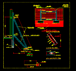 دانلود نمونه سوم نقشه اتوکد سازه نگهبان با دیتیل و جزییات کامل